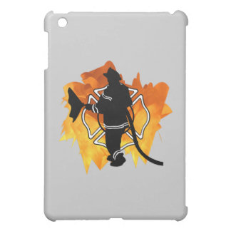 Firefighter In Flames iPad Mini Cover