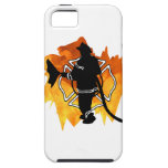 Firefighter In Flames iPhone 5 Cover