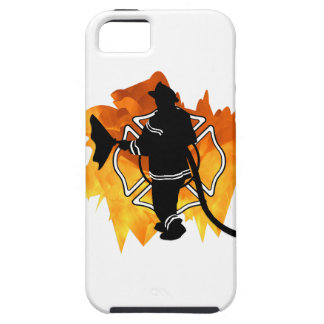Firefighter In Flames iPhone SE/5/5s Case