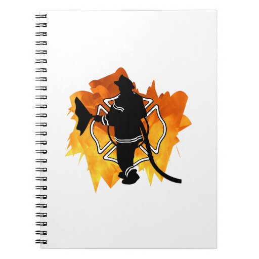 Firefighter In Flames Notebooks