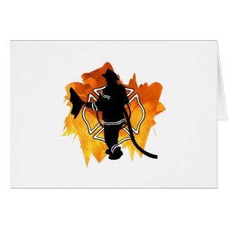 Firefighter IN Flames Stationery Note Card