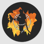 Firefighter IN Flames Stickers