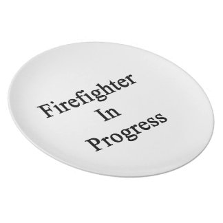 Firefighter In Progress Party Plates