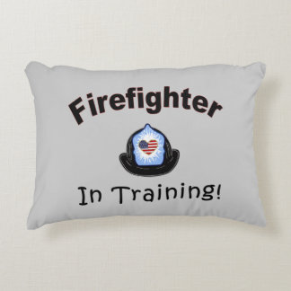 Firefighter In Training Accent Pillow