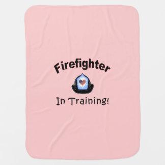 Firefighter In Training Baby Blanket