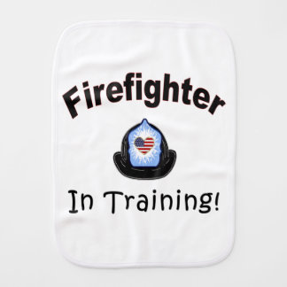 Firefighter In Training Baby Burp Cloth