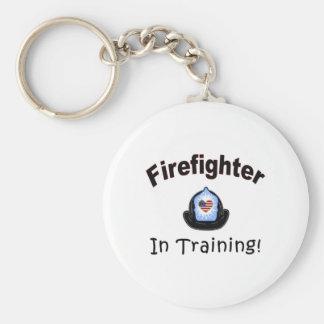 Firefighter In Training Basic Round Button Keychain