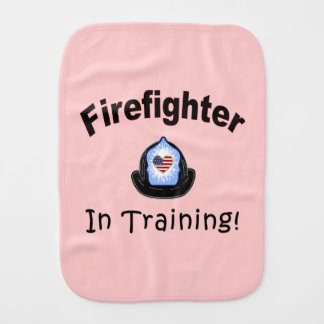Firefighter In Training Burp Cloth