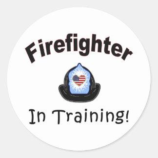 Firefighter In Training Classic Round Sticker