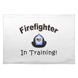 Firefighter In Training Cloth Placemat