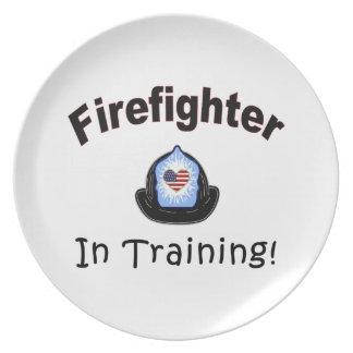 Firefighter In Training Dinner Plate