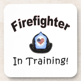 Firefighter In Training Drink Coaster