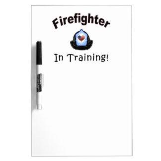 Firefighter In Training Dry-Erase Board