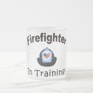 Firefighter In Training Frosted Glass Coffee Mug