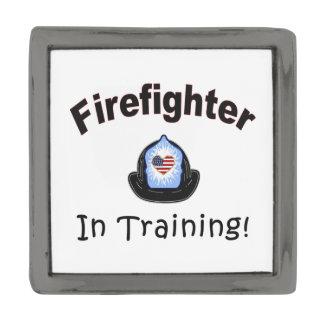 Firefighter In Training Gunmetal Finish Lapel Pin