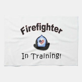 Firefighter In Training Hand Towel