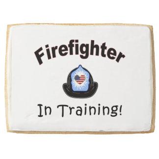 Firefighter In Training Jumbo Shortbread Cookie