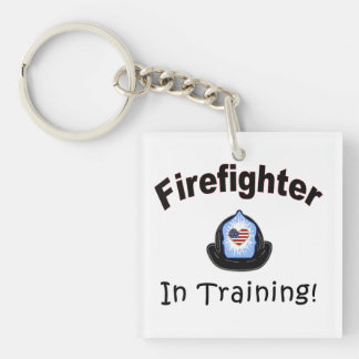 Firefighter In Training Keychain