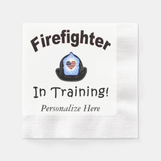 Firefighter In Training Paper Napkin