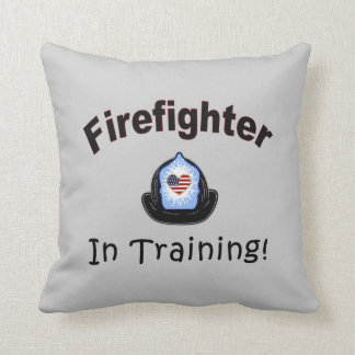 Firefighter In Training Throw Pillows