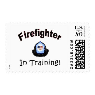 Firefighter In Training Postage