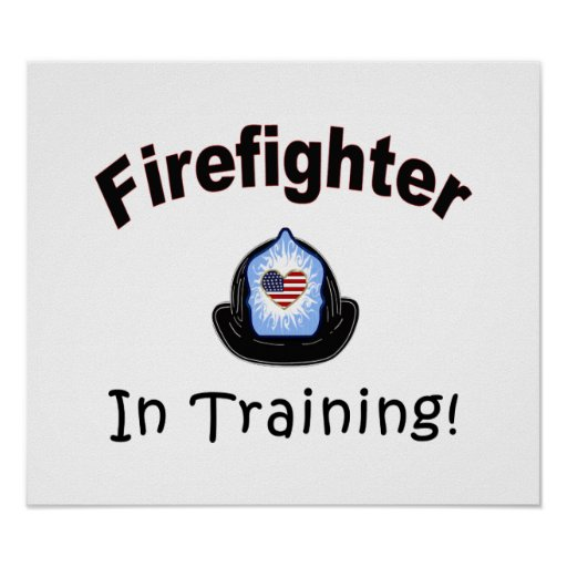 Firefighter In Training Print