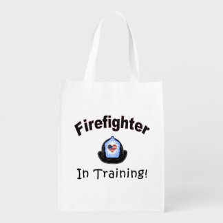 Firefighter In Training Reusable Grocery Bag