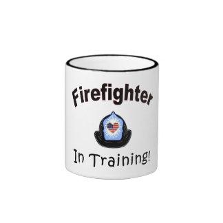 Firefighter In Training Ringer Mug