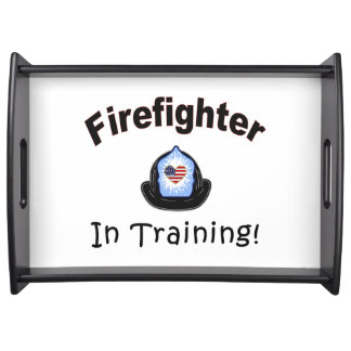 Firefighter In Training Serving Tray