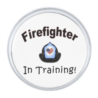 Firefighter In Training Silver Finish Lapel Pin