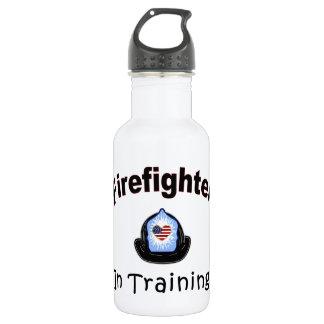 Firefighter In Training Stainless Steel Water Bottle