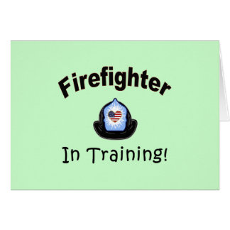 Firefighter In Training Stationery Note Card