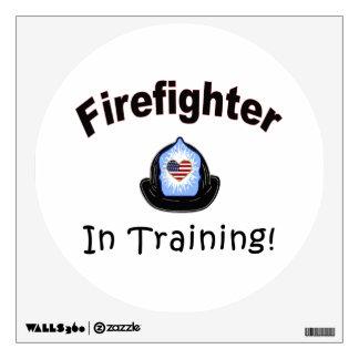 Firefighter In Training Wall Sticker