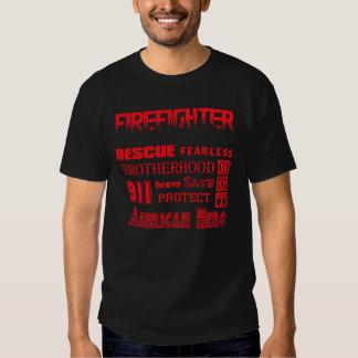 Firefighter Inspirational words Tee Shirt
