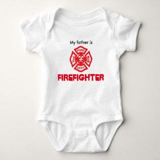 Firefighter is baby bodysuit