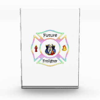 Firefighter Kids Acrylic Award
