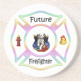 Firefighter Kids Beverage Coaster