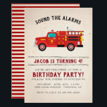 "Firefighter Kids Birthday Invitation<br><div class=""desc"">Sound the alarm for your birthday party with our Firefighter Invitations! Firefighter Invitations feature a Dalmatian Dog and Fire Engine. Prepare your guests for a smokin' party. Add your custom wording to this design by using the ""Edit this design template"" boxes on the right hand side of the item, or...</div>"