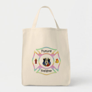 Firefighter Kids Grocery Tote Bag