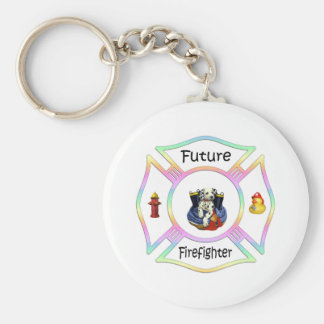 Firefighter Kids Keychain