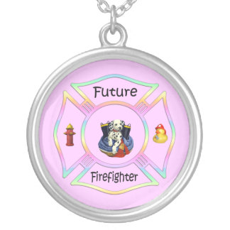 Firefighter Kids Personalized Necklace