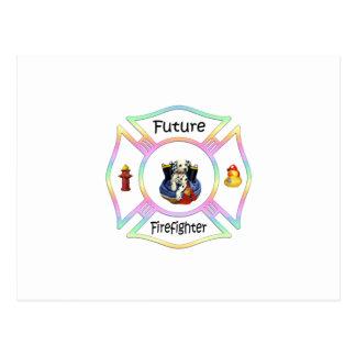 Firefighter Kids Postcard