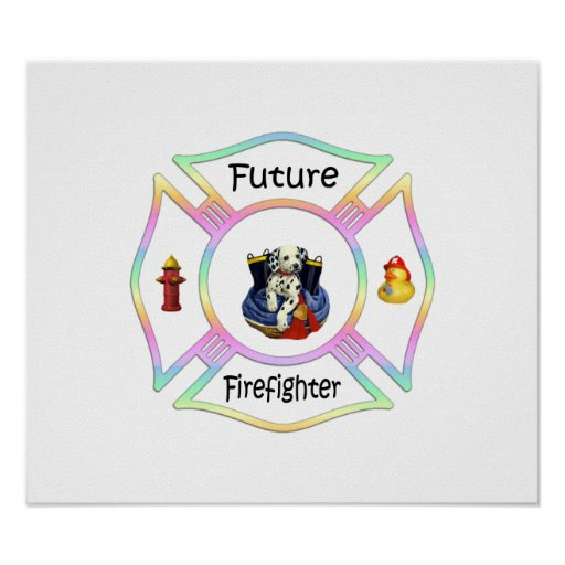 Firefighter Kids Posters