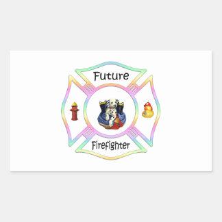 Firefighter Kids Rectangular Sticker