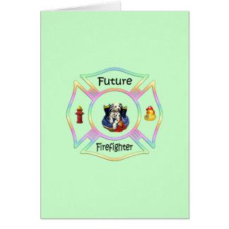 Firefighter Kids Stationery Note Card