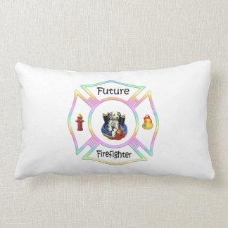 Firefighter Kids Throw Pillow