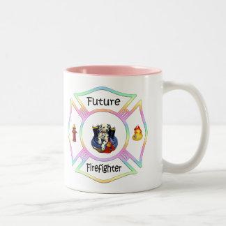 Firefighter Kids Two-Tone Coffee Mug
