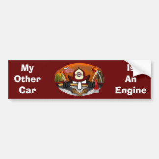 Firefighter Kilroy Bumper Sticker