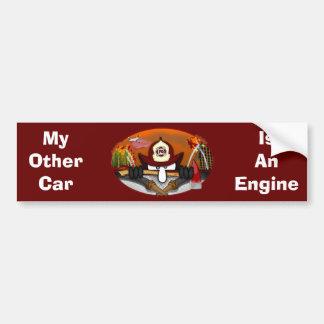 Firefighter Kilroy Bumper Sticker