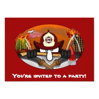 Firefighter Kilroy Invitations